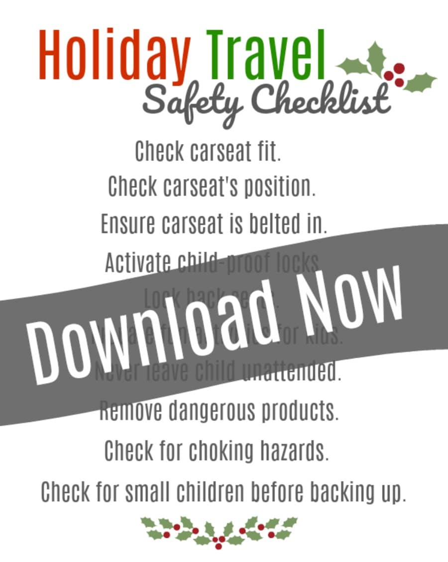 holiday safety travel list for kids