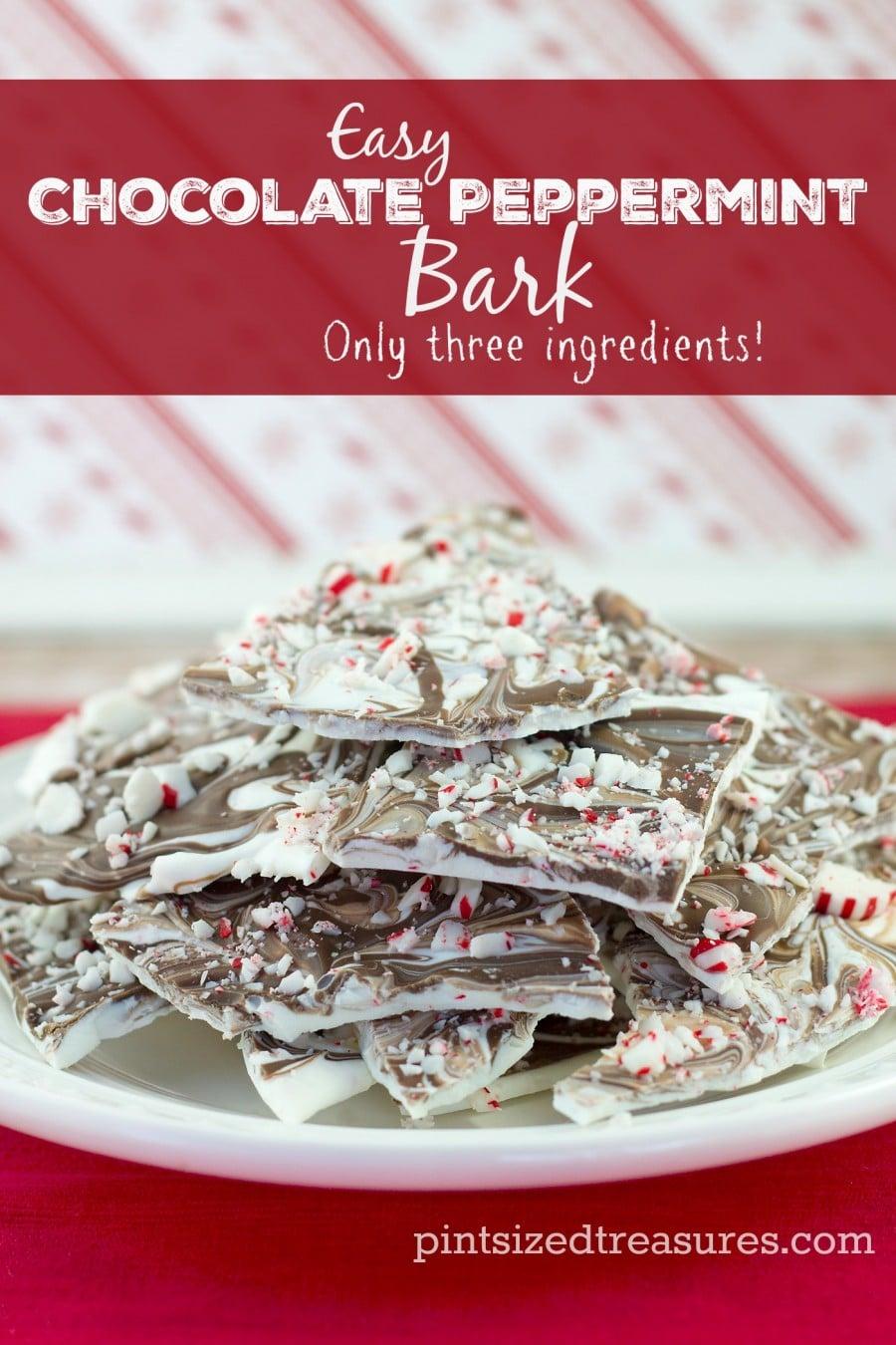 Chocolate Peppermint Bark » Pint-sized Treasures