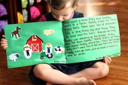 Preschool Story-writing—A fun activity that creates a love for reading and writing.