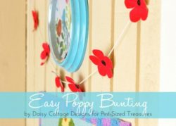Easy Poppy Bunting Tutorial