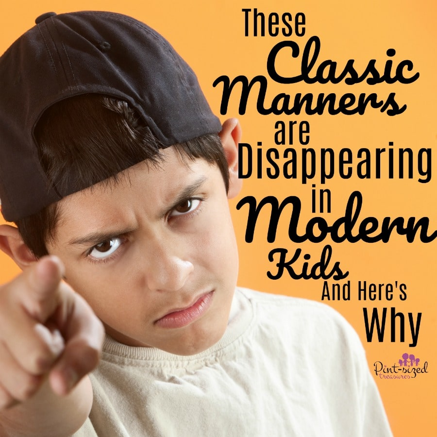classic manners in modern kids