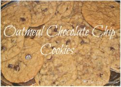 Soft, Chewy Oatmeal Chocolate Chip Cookies