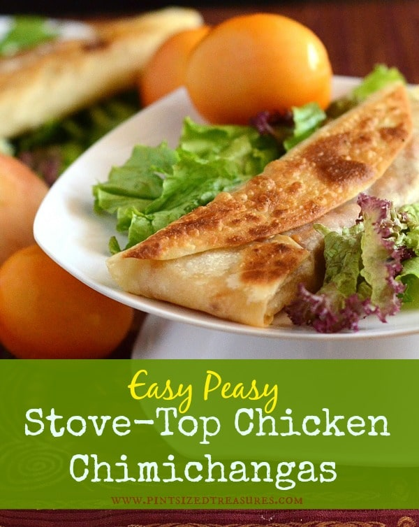 Easy-peasy, Stove-top Chicken Chimichangas