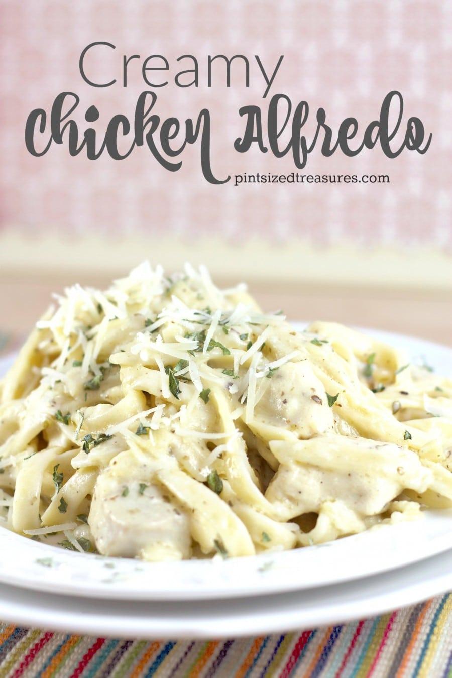 easy cheesy creamy chicken alfredo recipe