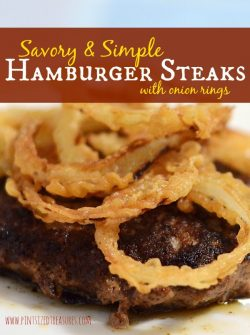 Savory and Simple Hamburger Steak With Home-made French Fried Onions