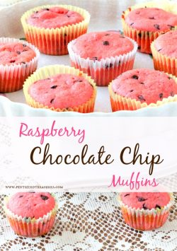 Raspberry, Chocolate Chip Muffins