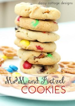 M and M Pretzel Cookies