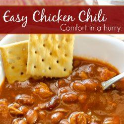 easy chicken chili recipe