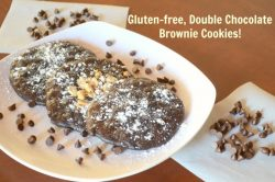 Gluten-free, Soft Batch, Double Chocolate Brownie Cookies!