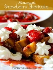 home-made strawberry shortcake