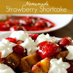home-made strawberry shortcake