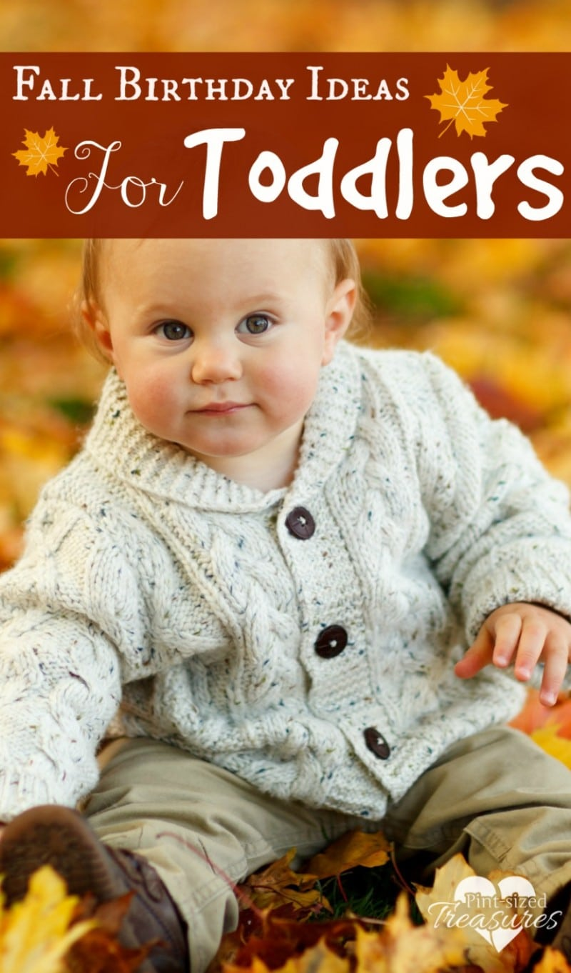Fall Birthday Ideas For Toddlers