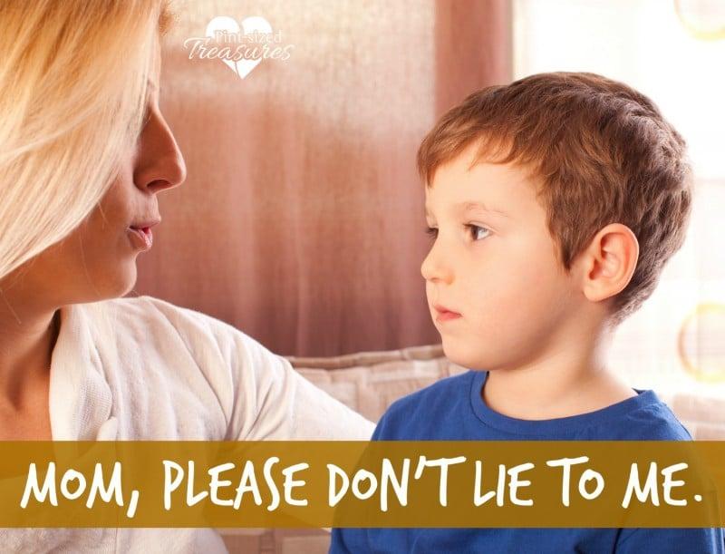 should moms lie to kids