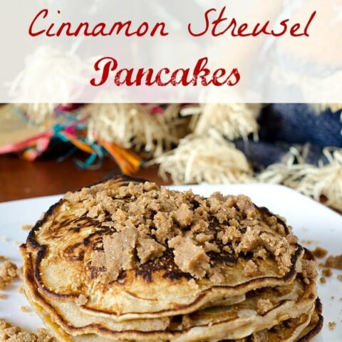 pancakes with streusel topping