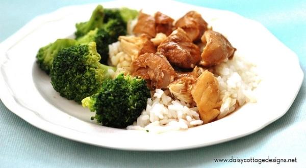 Chicken teriyaki in the crock-pot