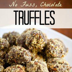easy, chocolate truffles
