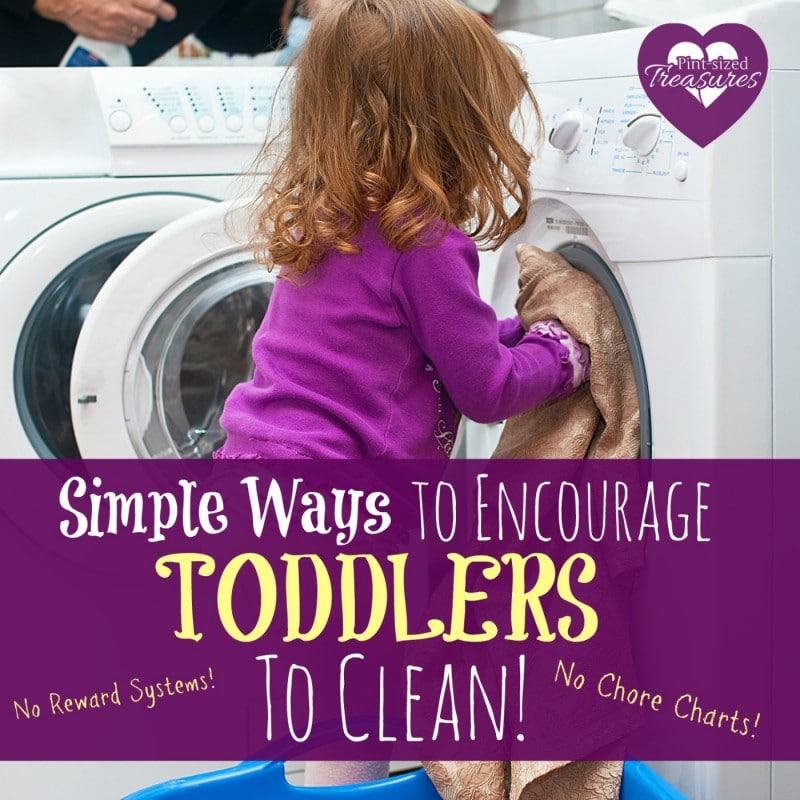 how to encourage toddlers to clean