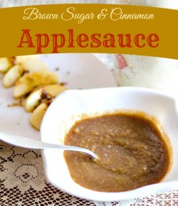 Brown Sugar and Cinnamon Applesauce