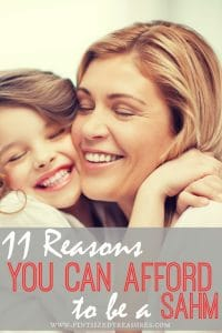 reasons why you can be a stay at home mom
