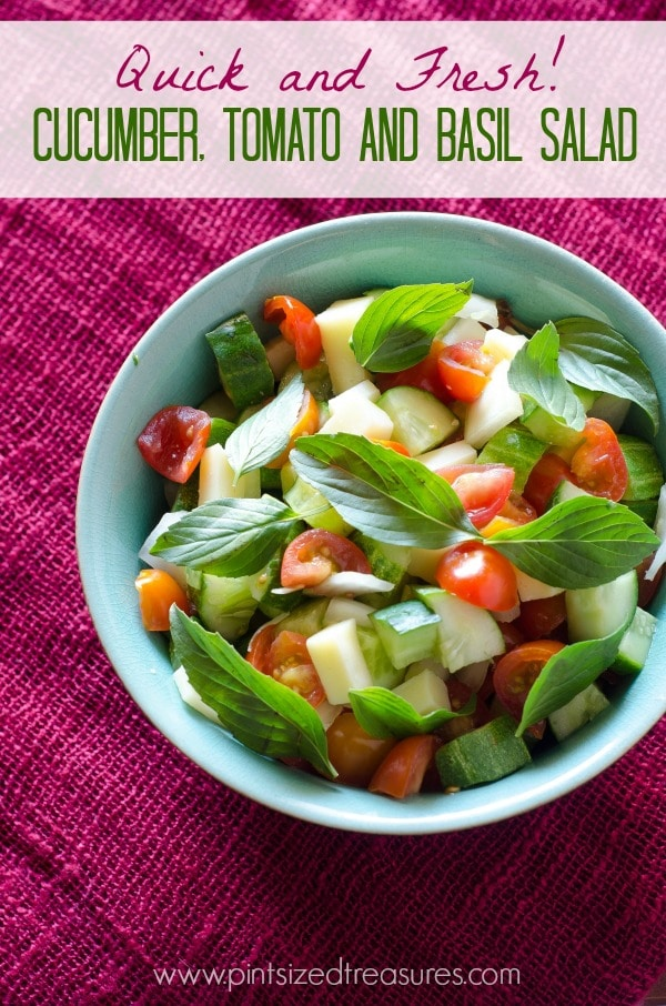 Cucumber, Tomato and Basil Salad — Ready in Minutes!
