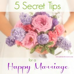 5 Secret Tips to a Happy Marriage