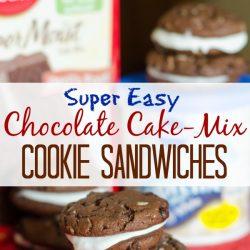 easy chocolate cake-mix cookies