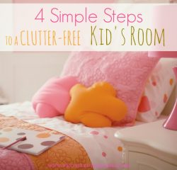 4 Simple Tips For A Clutter-Free Kids Room