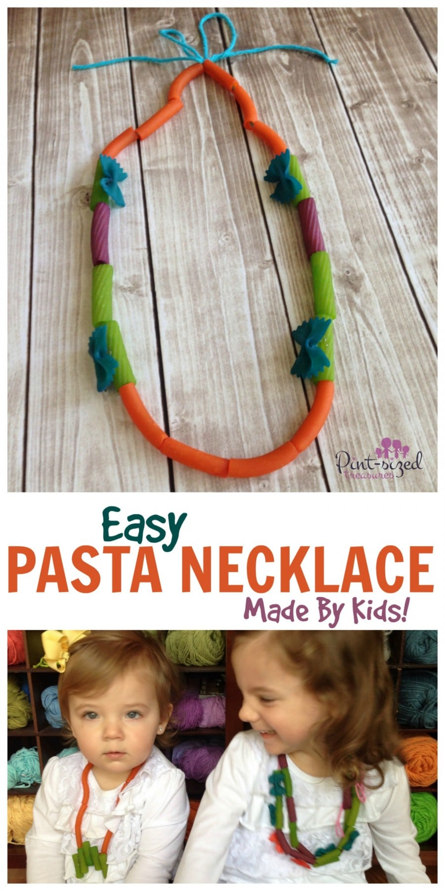 easy pasta necklace