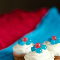 spring cupcakes with jelly beans