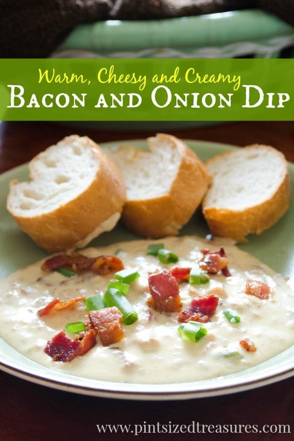 cheesy bacon onion dip