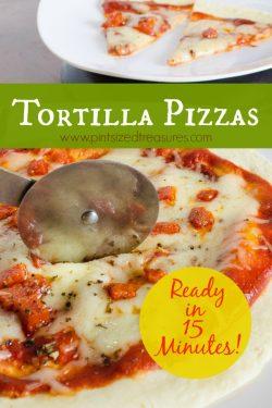 15 Minute Tortilla Pizza