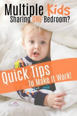 Do you have multiple kids in one bedroom? Here are six QUICK tips that will make it work!