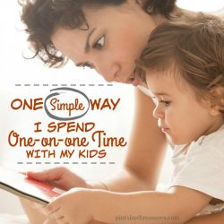 simple way I spend one-on-one time with my kids