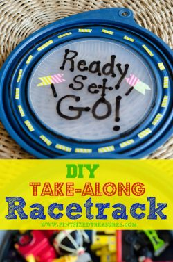 DIY Take-along Racetrack! So Cute and Fun!