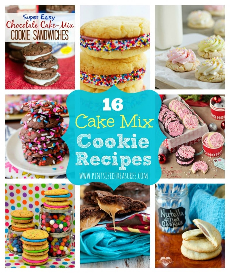 16 Cake Mix Cookie Recipes Pint Sized Treasures