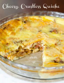 Crustless, Cheesy Bacon Quiche