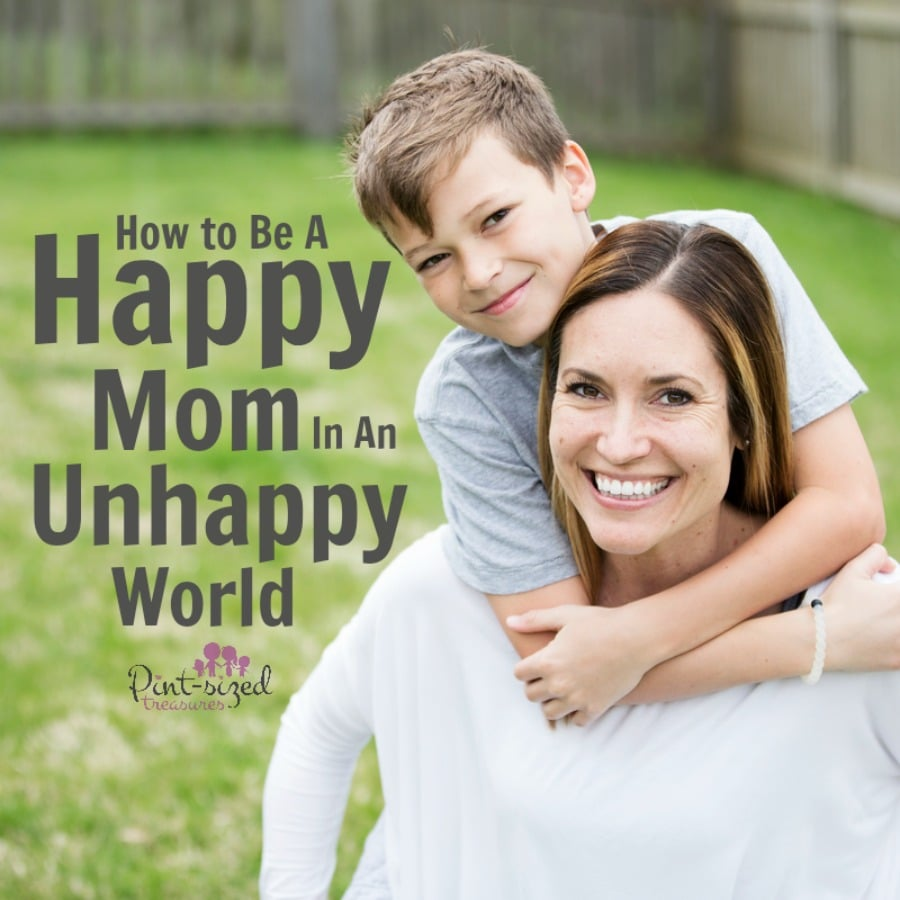 happy mom unhappy world