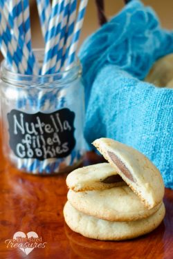 Nutella Stuffed Cake Mix Cookies