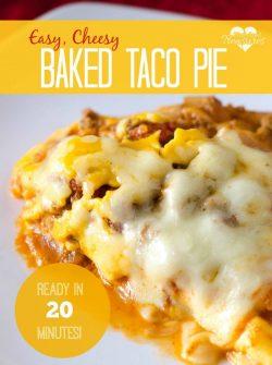 Easy Baked Taco Pie