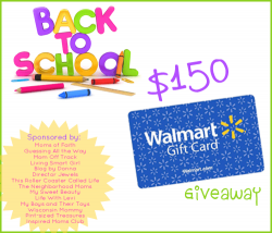 Back to School Walmart Gift Card Giveaway!