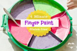 Quick and Easy, Gluten-free Finger Paint! Ready in Four Minutes!
