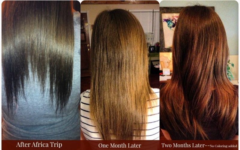 damaged hair to healthy hair