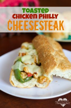 Toasted Chicken Philly Cheesesteak