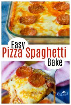 Easy Pizza Spaghetti Bake