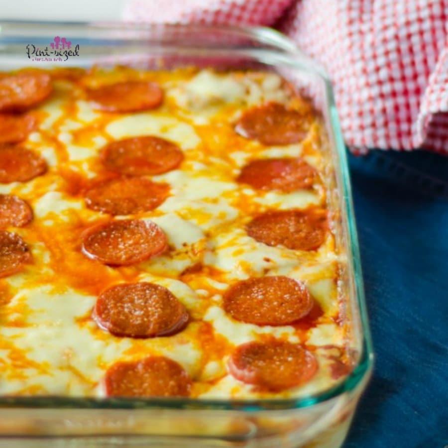 easy pizza spaghetti bake recipe