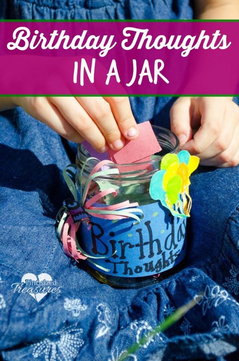 birthday thoughts in a jar