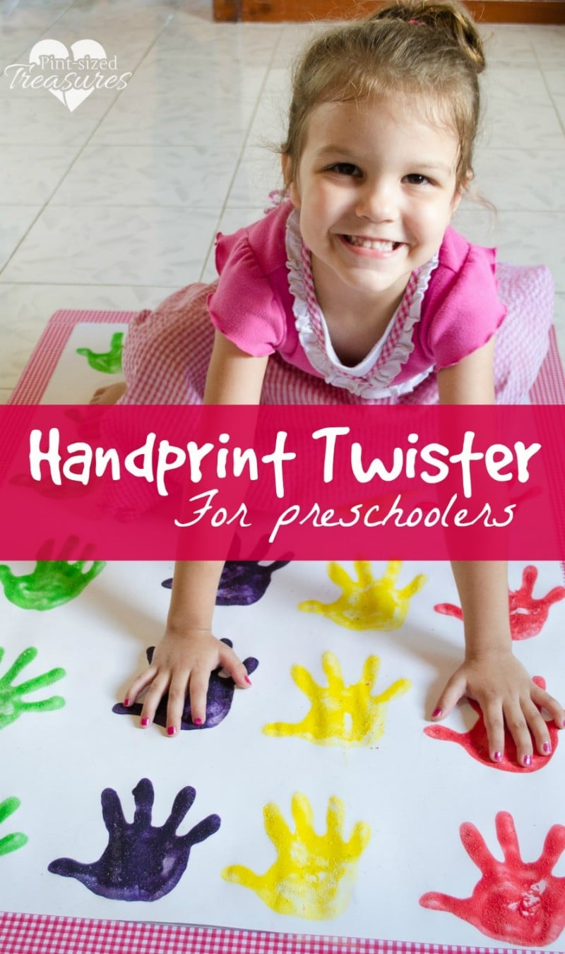 handprint twister craft and game