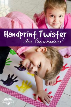 Handprint Twister for Preschoolers