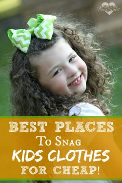 Best Places To Snag Kids Clothes for Cheap!