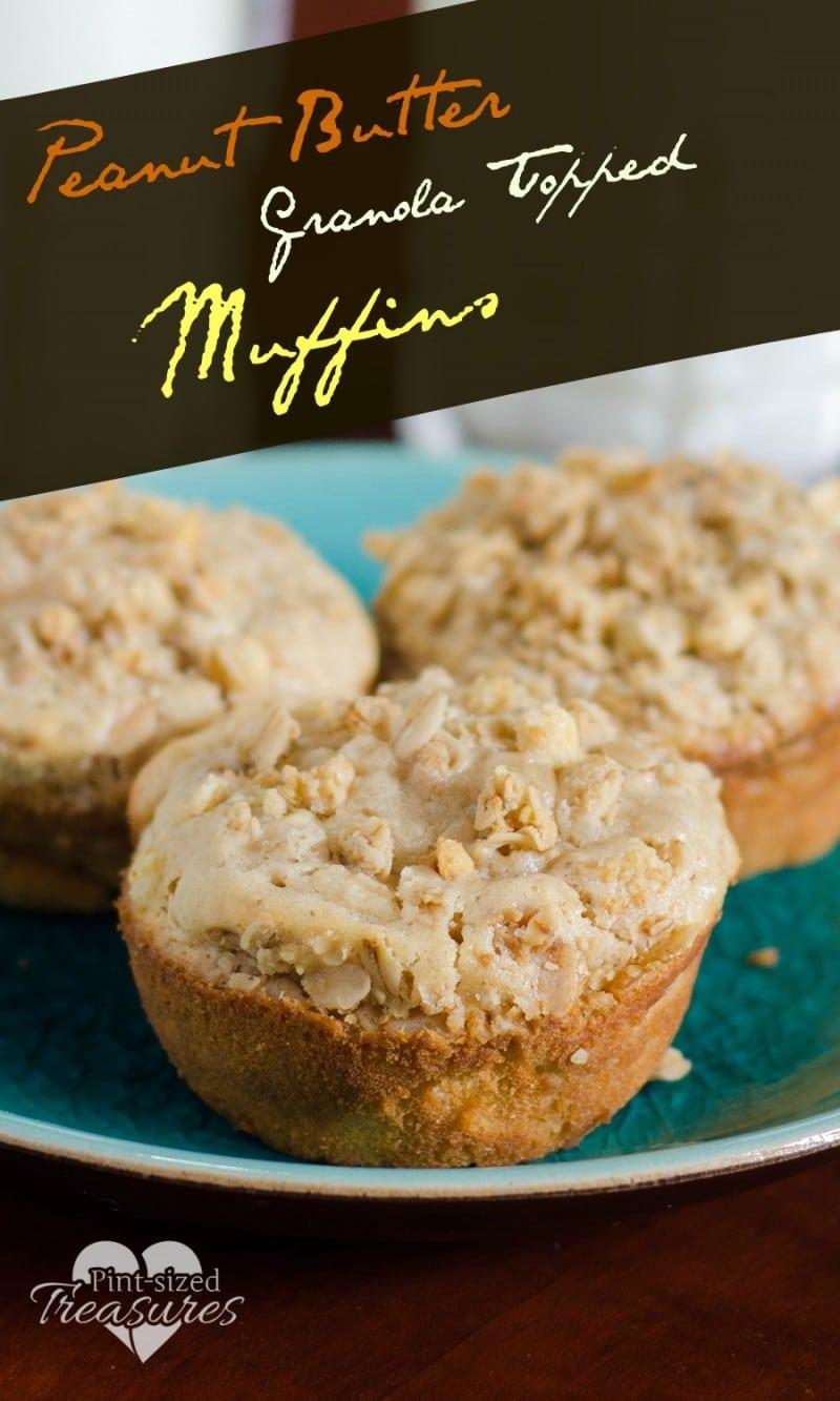 peanut butter granola muffins recipe